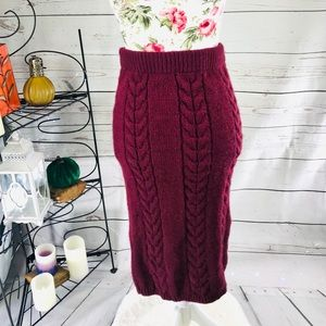 ASOS 4 Burgundy soft stretchy sweater skirt